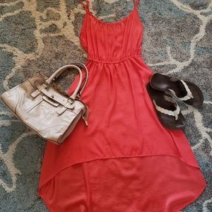 Coral Strappy Sundress